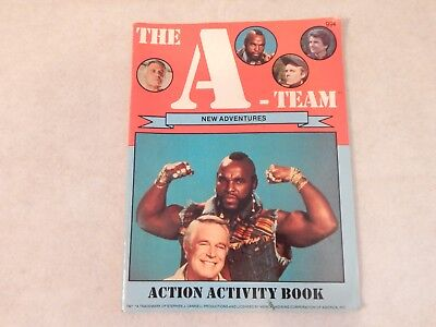 The A-Team New Adventures Action Activity Book 1984