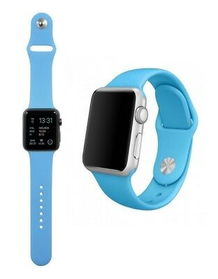Para Apple Watch 42mm Series 1 2 3 Recambio Correa reloj silicona Azul