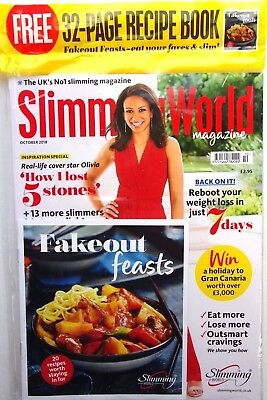 Slimming World Magazine October 2018 With Free Recipe Mag ~ New ~