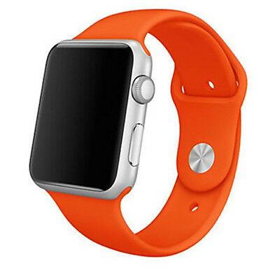 Para Apple Watch 38mm Series 1 2 3 Recambio Correa reloj silicona Naranja