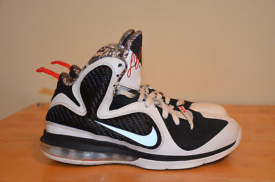 newest collection b287d 8f3f7 Nike Lebron 9 Freegums White Black Sport Red 469764-101 Miami Heat SZ 9.5