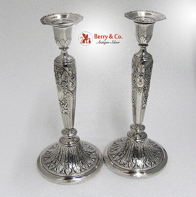 French Empire Candlesticks Gorham Silversmiths Sterling Silver