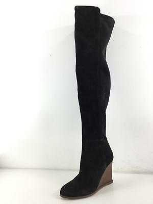 b4e56a54dd1 O21 Vince Camuto Granta Black Suede Over The Knee Wedge Boots Women Size 8 M