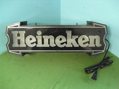 Vintage Heineken Lighted Hanging Mounted Sign - Beer Bar Light Advertising