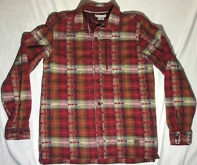 f5373eeee056a Without Walls Urban Outfitters Womens Medium Long Sleeve Snap Shirt Red  Native