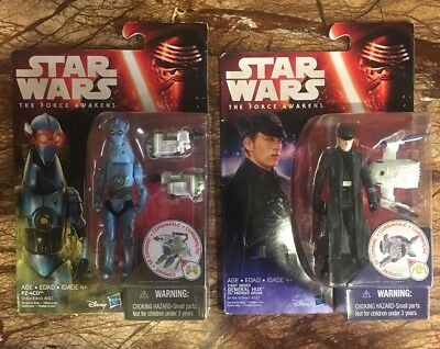 Star Wars The Force Awakens General Hux/Pz-4Co Sealed Action Figures