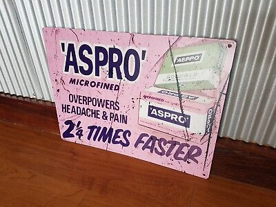 Aspro metal tin sign Retro old advertising