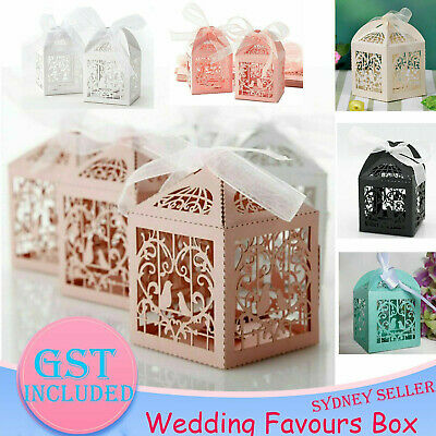 10/50/100/200x Wedding Laser Cut Candy Box Party Gift Box Favor Bomboniere Candy