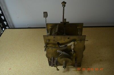 Antique Original GRANDFATHER CLOCK MOVEMENT with no cable for project or parts