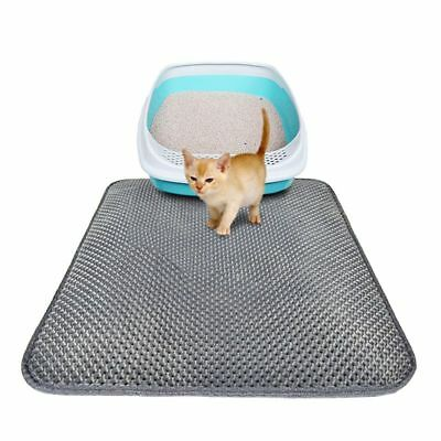 Cat litter Mat - Double Layer Pad - Large Flexible Trapping for litter Box AU