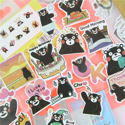 Sticker Kumamon Cartoon Anime 38pcs Vinyl Decal US Seller Shipping Soon