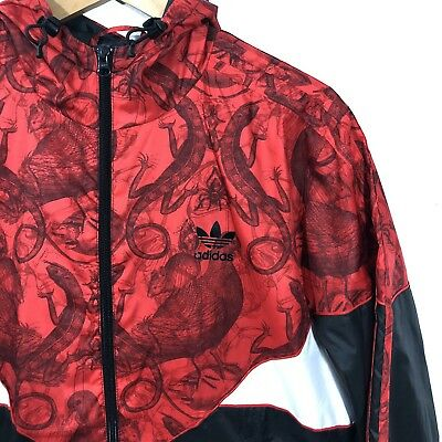 Adidas Originals Rgb Colorado Windbreaker Trefoil Jacket Red Black