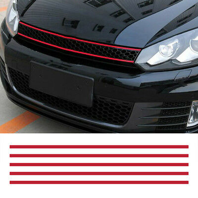 GE- Auto Car Front Hood Grille Decal Strip Sticker Decor for VW Golf 6 7 Tiguan