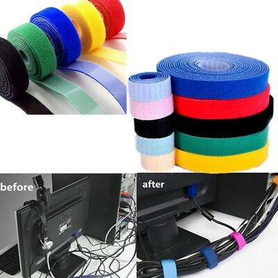 5M Reusable Hook and Loop Tape Fastener 10mm Cable Ties Straps
