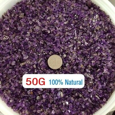 50g Tumbled Mini Stones Polished Amethyst Natural Quartz Small Crystal Chips
