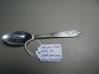 """Vintage! Rare! Meriden Silver Plate Co. """"100th Anniversary Alfred Baylies Lodge"""""""