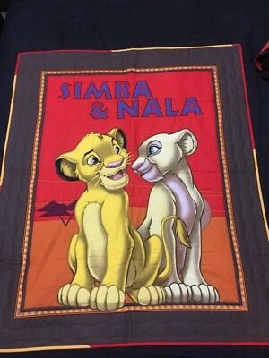 Brand New Gorgeous Handmade Lion King Baby Quilt Or Play Mat