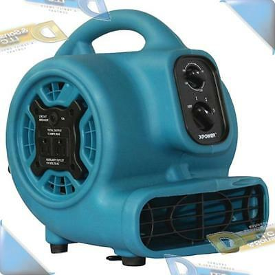 NEW Xpower 3-Speed 800cfm Mini Air Mover/Floor Dryer/Utility Blower Fan w/Outlet