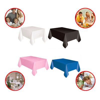 Disposable Plastic Table Cloth Multicolor Table Cover Party Wedding Rectangle