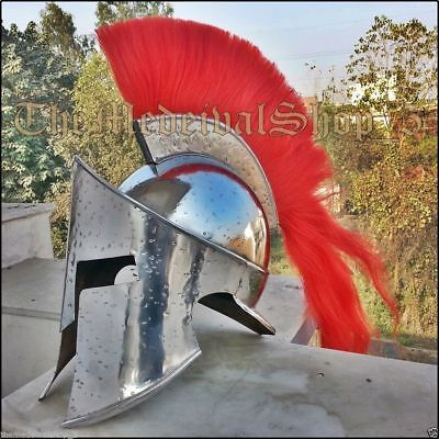 NEW Medieval 300 Spartan King Leonidas Armor Helmet w RED Liner MOVIE REPLICA