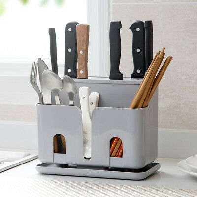 Plastic Kitchen Knife Blocks Holder In-Drawer Knife Organizer Storage Racks