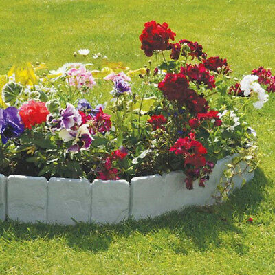 Garden Lawn Grass Edging Picket Border Panel Plastic Wall Path Fence Novelty