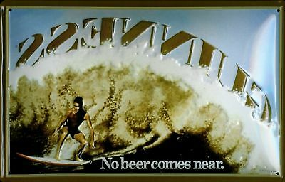 Guinness Surfer Metal Sign Signboard 3D Embossed Arched Tin 7 7//8x11 13//16in