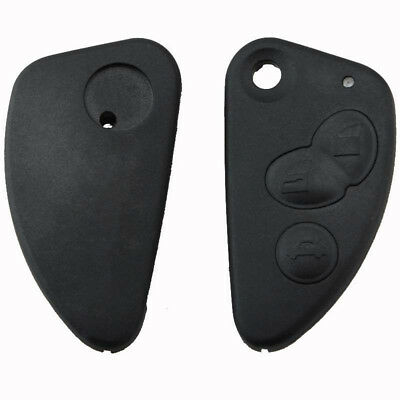 Uk_ Replacement 3 Buttons Car Remote Flip Key Case Fob For Alfa 147 156 166 Gt K