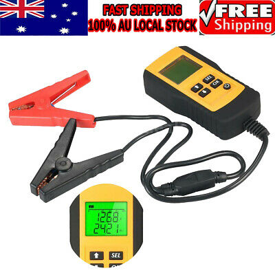 Digital LCD Display  Battery Detector 12V Car Battery Load Capacity Tester Black
