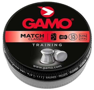 Plombs MATCH CLASSIC 4,5 mm - GAMO   250   Indisponible