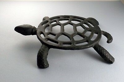 "Cast Iron Turtle Trivet, 5 3/4"" x 7"", 1 1/4"" Tall, Weighs 10 oz"