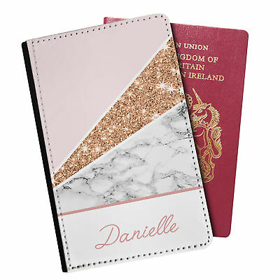 Personalised Marble PU Leather Effect Passport Holder Travel Wallet - 86
