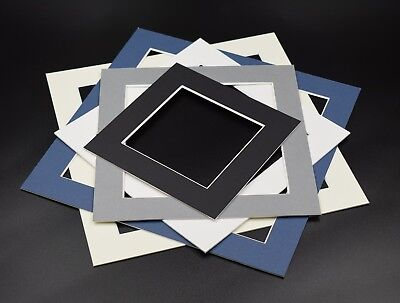 Pack of 5 Square Instagram Picture Photo Mounts White Ivory Black Grey Mount