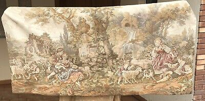 Antique French Wall Hanging Tapestry Love Scan 28 X 1148 Cm