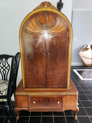 Antique Arch Top Armoire, Wardrobe or Closet