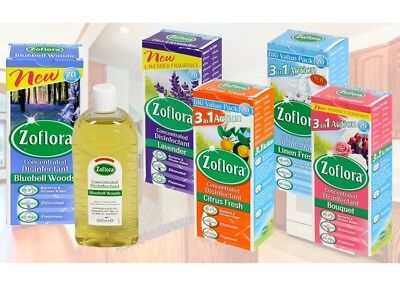 Zoflora Odour Remover Concentrated Antibacterial Disinfectant Cleanr Fresh 500ml