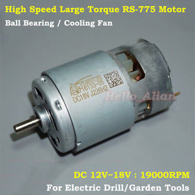 RS-775 DC12V-18V 19000RPM High Speed Power Strong Electric Motor 5mm Shaft