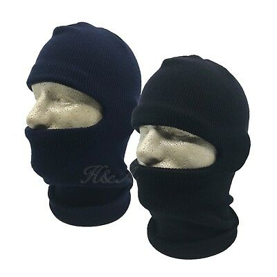 3a609681fee Double Ply Knit One hole Ski Face Mask Balaclava Beanie Hunting Stocking  Hat Cap