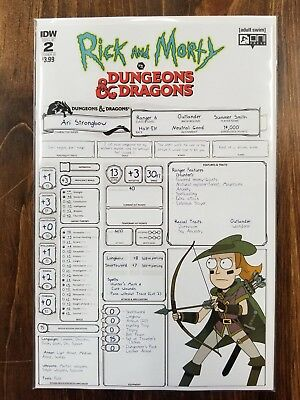 Rick and Morty vs Dungeons & Dragons #2 B Variant Oni Comic 1st Print 2018 NM
