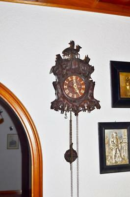 origenell BEHA cuckoo clock 18thc Black forest     mint condition 17.0 in