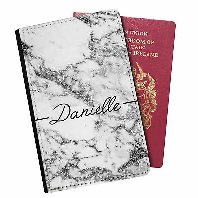 Personalised Marble PU Leather Effect Passport Holder Travel Wallet - 13