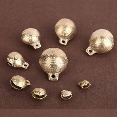 9~28mm Small Bells Little Brass Jingle Bell Dangle Charms With Loop DIY Jewelry
