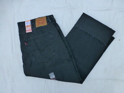 df7f083e669 Nwt Mens Levis 501 Straight Leg Pleated Crop Jeans $89 52436-0000 Washed  Black