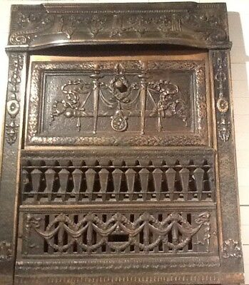 Antique Victorian Fireplace Summer Cover Classic Copper Finish Cast