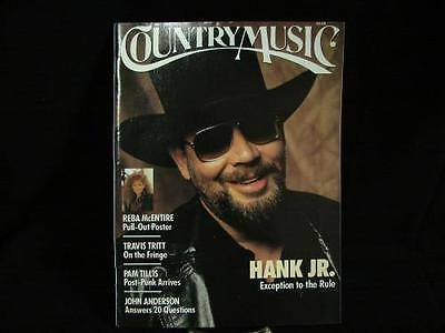 Country Music Magazine Back Issue Hank Jr. Reba McEntire May June 1982 vtg