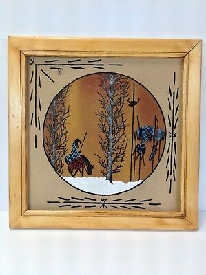 VTG. Navajo Native American Sand Painting Signed Alex Lee ( Trail Of Tears )