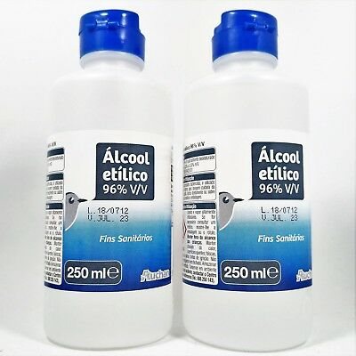 Ethyl Alcohol (ETHANOL) 96% Antiseptic Disinfectant Partially Denatured 2x 250ml