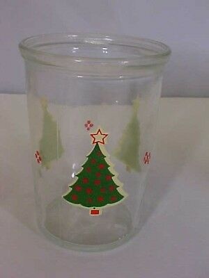 "Jelly Jar Christmas Tree By Ball Juice Glass 4"" tall 2-3/4"" Diameter Color Good"