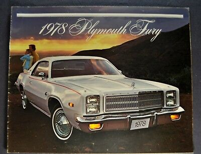 1978 Plymouth Fury Brochure Sport Salon Suburban Wagon Nice Original 78