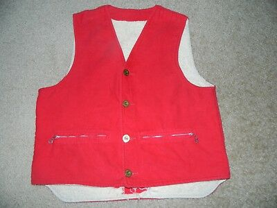 VTG Duxbak AIRCEL Thermal Duck Hunting Vest Clothing 50s Remington Shell Buttons